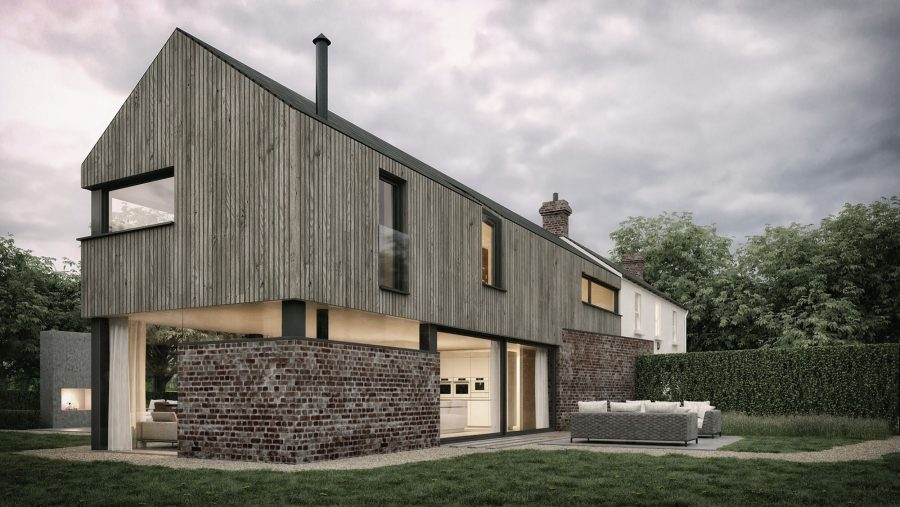 Patrick Bradley Architects Croft House Modern Larch Timber Rural Maghera Barn Inside Outside Spaces Vernacular Glazing Contemporary Cool Replacement Dwelling Brick 5
