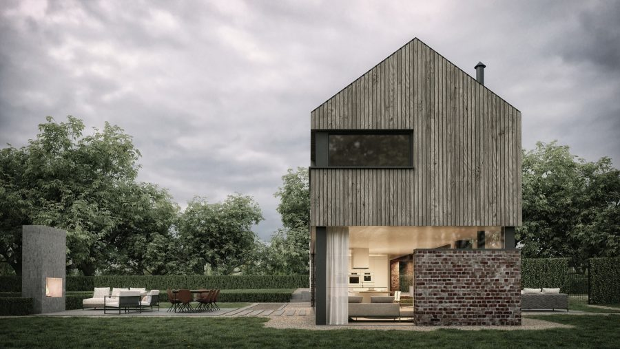 Patrick Bradley Architects Croft House Modern Larch Timber Rural Maghera Barn Inside Outside Spaces Vernacular Glazing Contemporary Cool Replacement Dwelling Brick 6 TNI