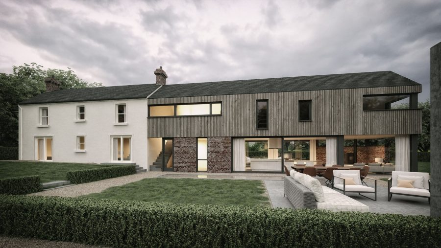Patrick Bradley Architects Croft House Modern Larch Timber Rural Maghera Barn Inside Outside Spaces Vernacular Glazing Contemporary Cool Replacement Dwelling Brick 8