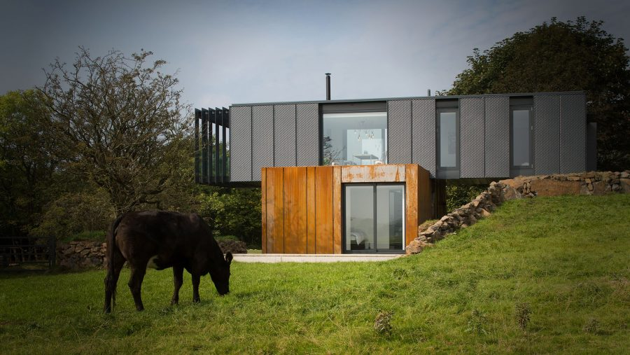 Patrick Bradley Architects Shipping Container Architecture Grand Designs Rural Bespoke Northern Ireland Vernacular Dwelling On A Farm RIBA Award Winning Grillagh Water 1